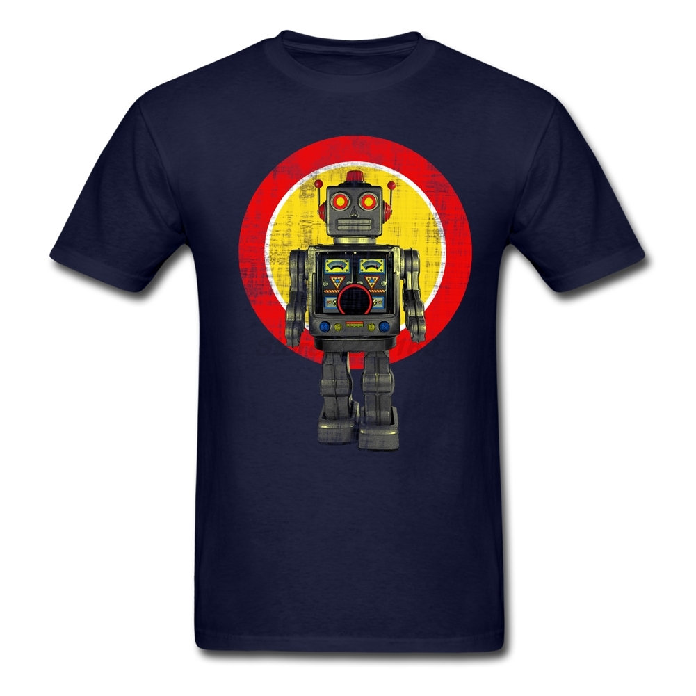 robot artwork retro bot boys gift 39 s t shirts cool tshirt sites adult natural tee tops in t. Black Bedroom Furniture Sets. Home Design Ideas