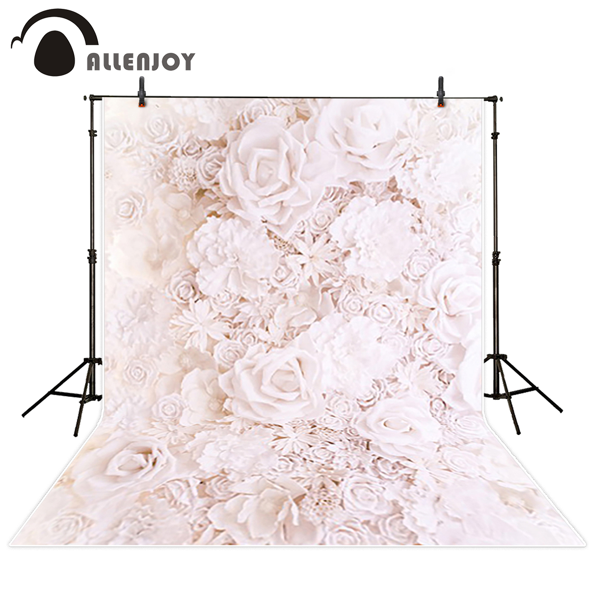 Allenjoy backdrops for photography Pink dreaym beautiful flowers wall paper background for photographic studio excluding stand