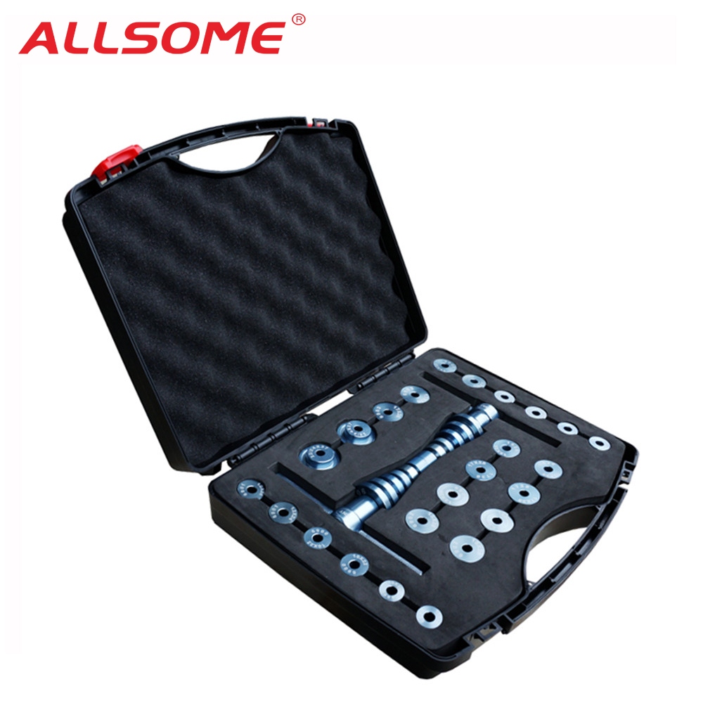 ALLSOME Bicycle Bottom Bracket Hub Bike BB Axis Bearing Removal Press Installation Tool Kit Set Hand Tool Set HT1637ALLSOME Bicycle Bottom Bracket Hub Bike BB Axis Bearing Removal Press Installation Tool Kit Set Hand Tool Set HT1637