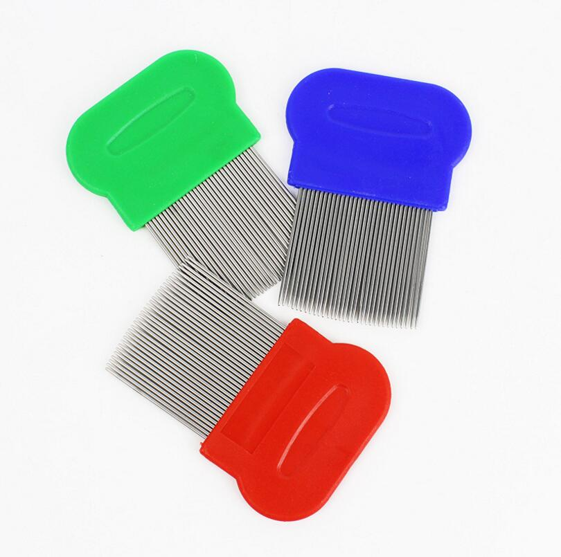 Wholesale High Quality Lice Comb Pets Hair Rid Head lice stainless steel Metal Teeth Net Flea comb ...