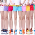 2017 Summer  Denim Shorts Women Cotton Candy Color Short Jeans Sexy Shorts