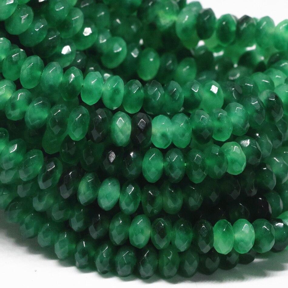Nouveau 5x8mm Abacus Multicolore Jade Pierres Précieuses Perles Boucle d/'oreille