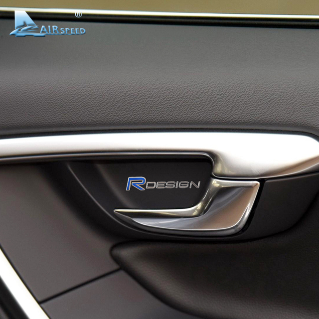 Airspeed rdesign car sticker and decals interior door handle steering wheel console stickers for volvo s60