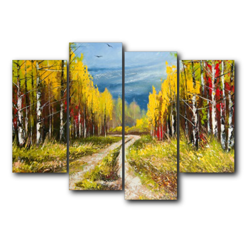 Laeacco Autumn Forest World Canvas Prints Home Decoration Wall Art Poster Picture Oil Painting For Living Room Bedroom No Frame