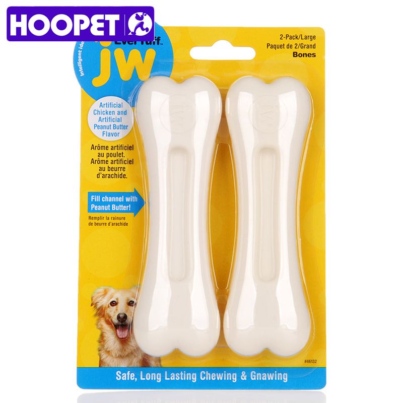 HOOPET собака, кости игрушки резины сопротивление укусить Измельчить зубы Training интерактивные