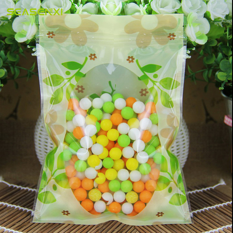 ⑦SEASENXI 10 piezas Pie de envases para alimentos cookies embalaje ...