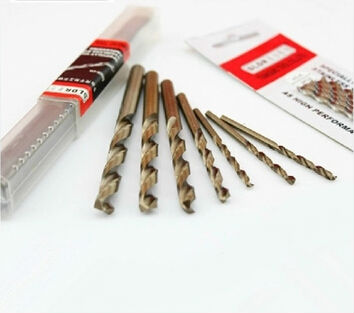 5PCS 3.1mm-5.0mm HSS-CO M42 Drill Bits Cobalt High Speed Steel Twist Drill Stainless Steel (3.2/3.5/3.8/4.0/4.2/4.5/4.6/4.8mm)