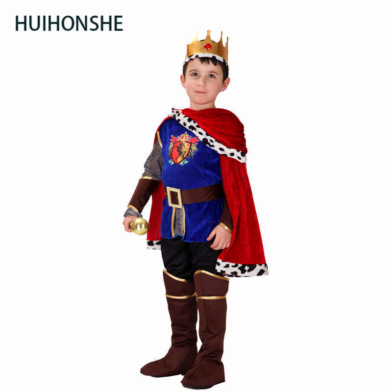 HUIHONSHE NEW ARRIVAL Children's Halloween Costume Dress Up Game Prince Charming Costumes Cos Arab Costume