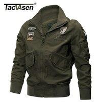 TACVASEN Military Jacket Men Winter Cotton Jacket Coat Army Pilot Jackets Air Force Cargo Coat Spring