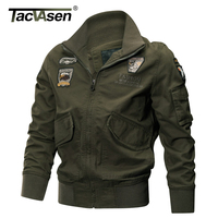 TACVASEN Military Jacket Men Winter Thermal Cotton Jacket Coat Army Pilot Jackets Air Force Cargo Coat