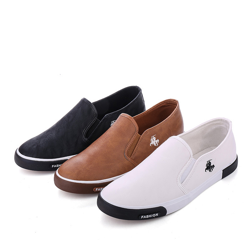 Image 4 - NPEZKGC New arrival Low price Mens Breathable High Quality Casual Shoes PU Leather Casual Shoes Slip On men Fashion Flats Loafer-in Men's Casual Shoes from Shoes