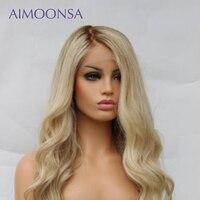 Ombre парик человеческих волос 613 блондинка парик 13x6 Синтетические волосы на кружеве парик 150 плотность Волнистые парик предварительно сорвал