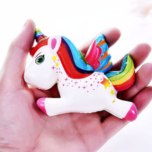 Antistress Funny Squishy Slow Rising Toys Squeeze Stress Relief Kids Gift Cute Trump Unicorn SimulatioToy Jumbo Squish Toy cute simulation animal pu squishy slow rising simulation squeeze decompression kawaii unicorn squish toy stress reliever
