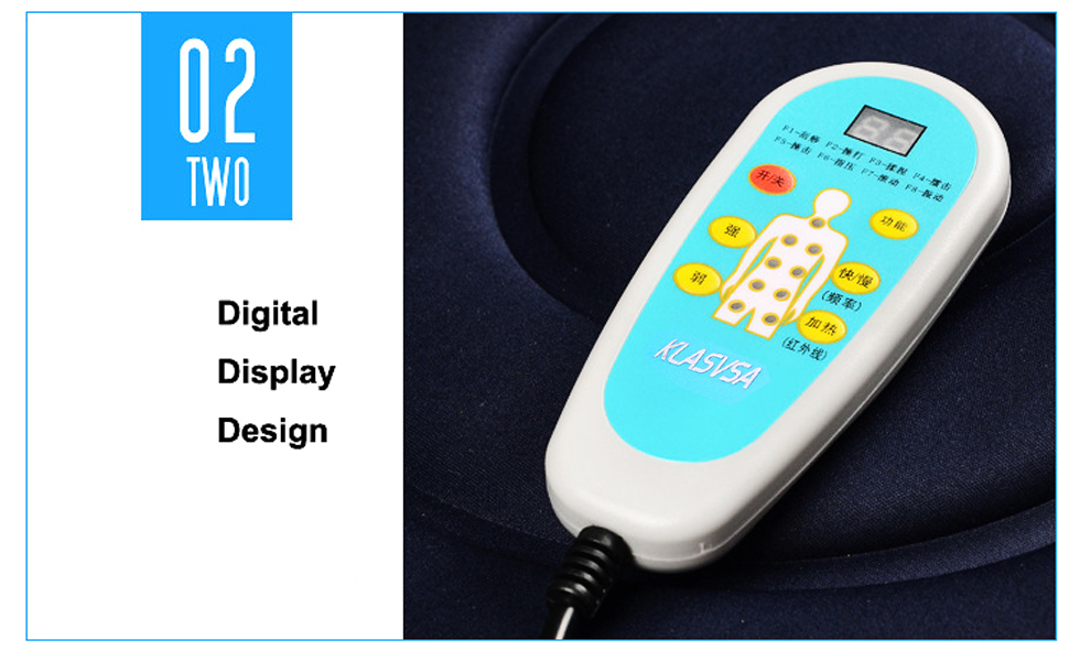 KLASVSA Electric Vibrator Massager Mattress Far-Infrared Heating Therapy Neck Back Massage Relaxation Bed Vibrador Health Care 13