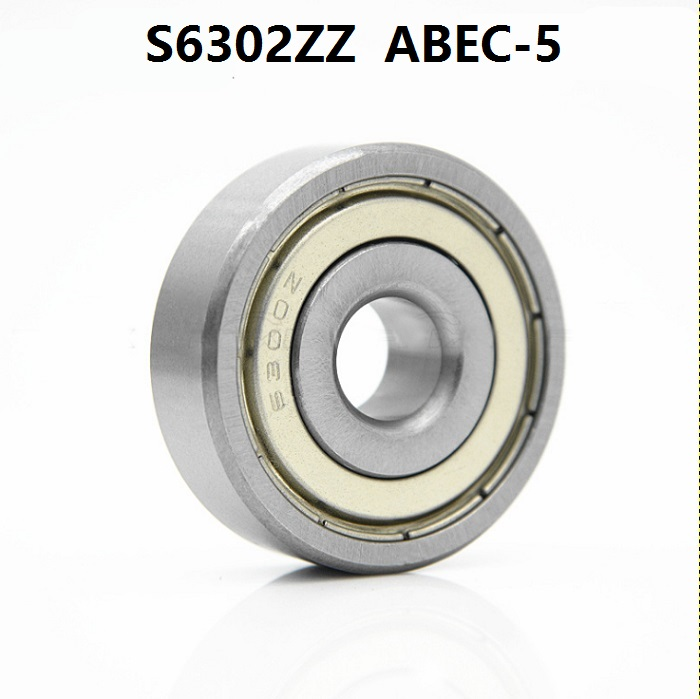 10pcs ABEC 5 S6302ZZ S6302 ZZ deep groove rolling bearing 15 42 13mm Stainless steel Deep
