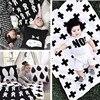 HOT Wrap Super Soft Flannel Newborn Baby Blanket Autumn Winter Fashion Swaddling Cross Rabbit Tree Style