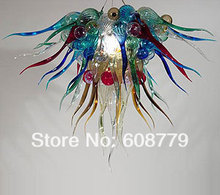 Free Shipping Cheap Murano Blown Glass Chandelier Crystal Prisms