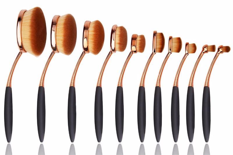 Oval Makeup Brush Set (10)