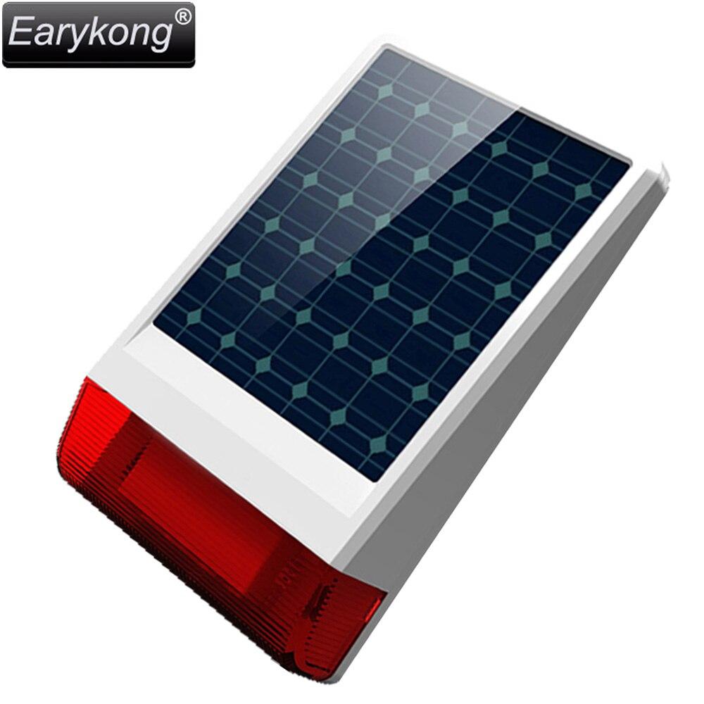 Бесплатная доставка солнечной сигнализации Системы светодиодной вспышкой сирена для GSM сигнализация Системы все для вашего дома безопасно...