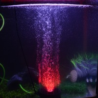 Newest Aquarium Led Lighting Round 5050 RGB Fish Tank Light Waterproof Underwater Bubbler Lamp Submersible Air Pump with Plug