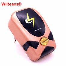WILTEEXS Stromspardose 90 V 240 V Elektrische Energie Energiespar Leistungsfaktor Saver Geräte bis zu 30% Smart EU/UK/Us stecker