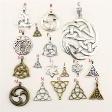 20Pcs Wholesale Bulk Accessories Parts Triquetra Symbol Mix Pendant Fashion Jewelry Making HK111