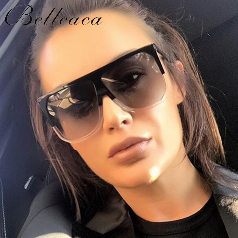 Bellcaca الأزياء نظارات المرأة العلامة التجارية مصمم الفاخرة سيدة الصيف نظارات الشمس للإناث ظلال uv400 المتضخم BC053