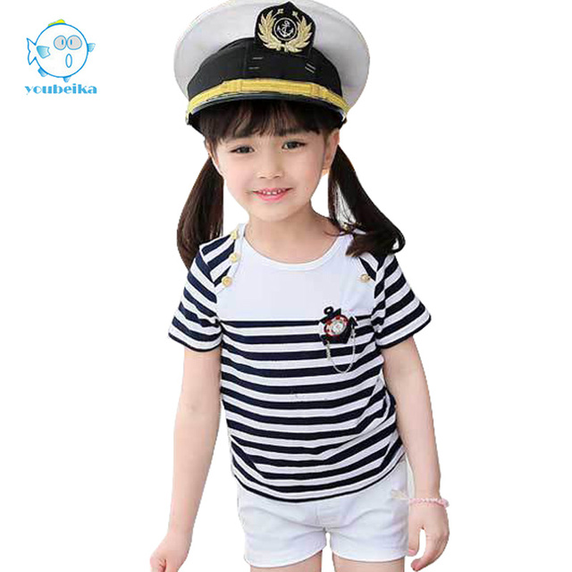 d0ccebfefea86 2017 Summer Set Clothings For Kids Girls Black White Striped Set  Shortsleeve And Shorts 2 Pcs Clothings Kids Clothes Boys Sets-in Clothing  Sets from ...