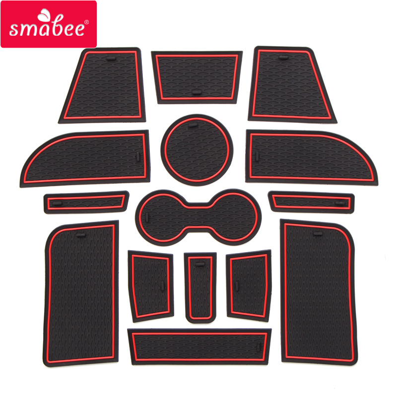 smabee Gate slot pad Car Mat Anti Slip , Non-slip For LADA 2016-2017 XRAY Interior Door Pad/Cup