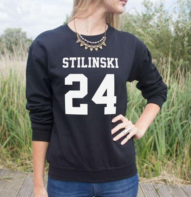 STILINSKI 24 Letras Imprimir Mulheres Camisola Jumper Casual Hoodies Para Funny Lady Black White Street Tumblr TZ2-115