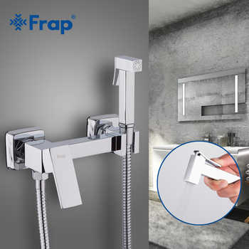 Frap Bidets New Arrival Brass Chrome Bidet Toilet Faucet Shower Portable Sprayer Set Hot and Cold Water tap hygienic showerF7504 - DISCOUNT ITEM  50% OFF All Category