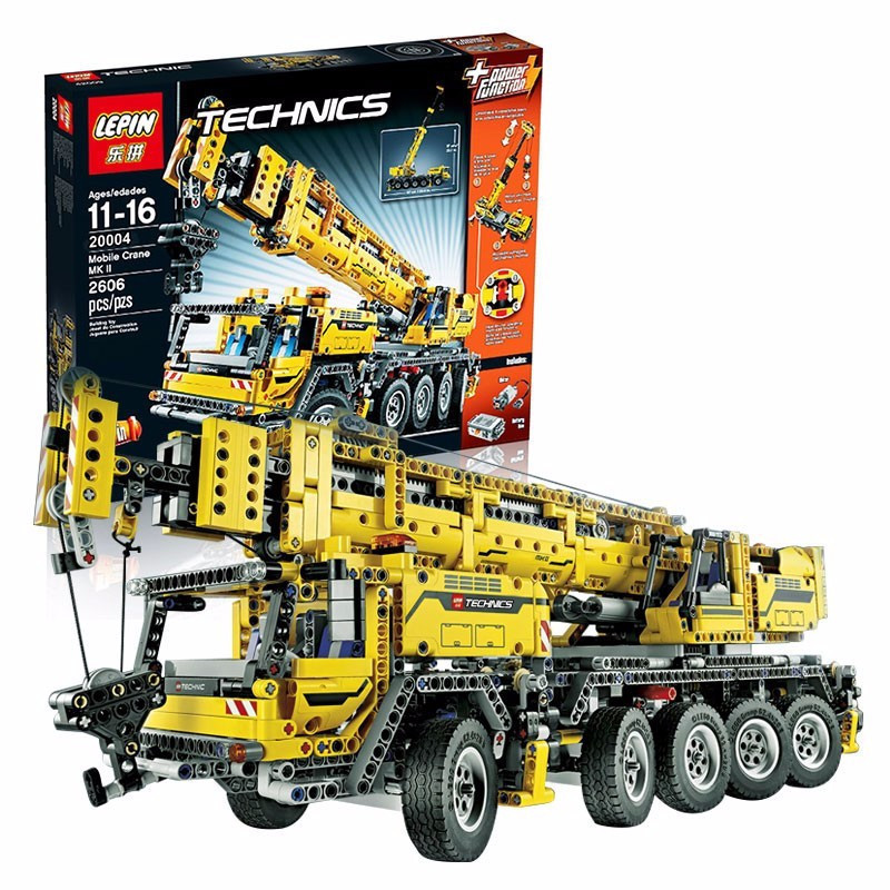 LEPIN 20004 2606Pcs Technic Motor Power Mobile Crane Mk II Model Building Kits Blocks Toy Bricks Christmas kids Gift 42009