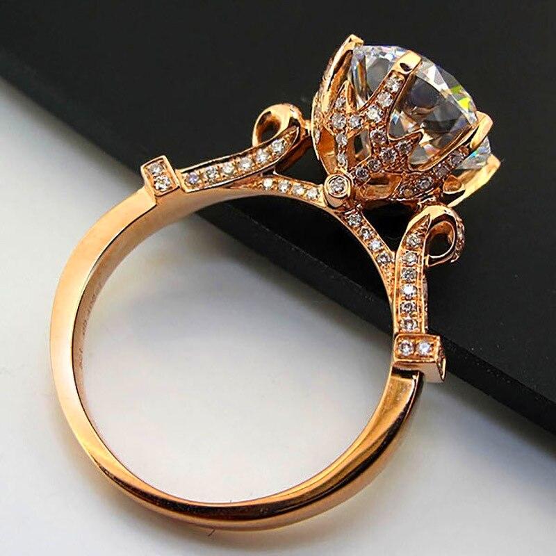 Ювелирные изделия LOREDANA, модные кольца принцессы с белым цирконием золотого цвета, обручальные кольца, вечерние кольца