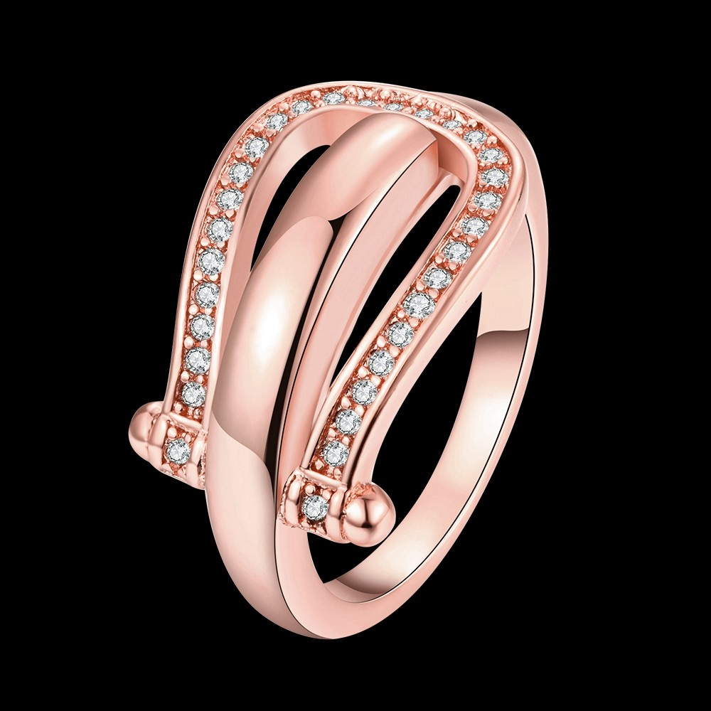 High-quality gold colour Filled Horse Shoe Ring water drop ring ...