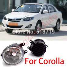 2015 new auto accessories car LED front fog lights strobe line group For Toyota Corolla 2011-2013 car styling parking