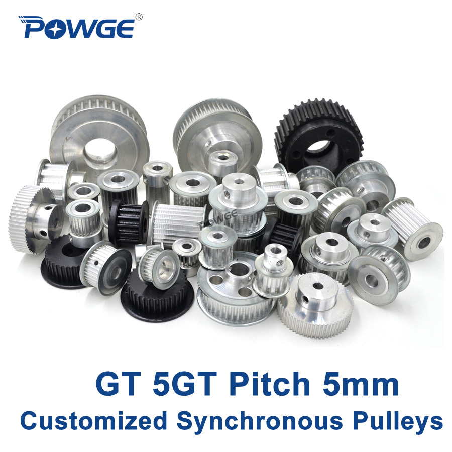 POWGE High torque GT 5GT Synchronous pulley pitch 5mm Small Backlash Manufacture Customizing all kinds of 5GT Timing pulley Belt подвижная каретка для тали 9 м jet 0 5gt 25220509