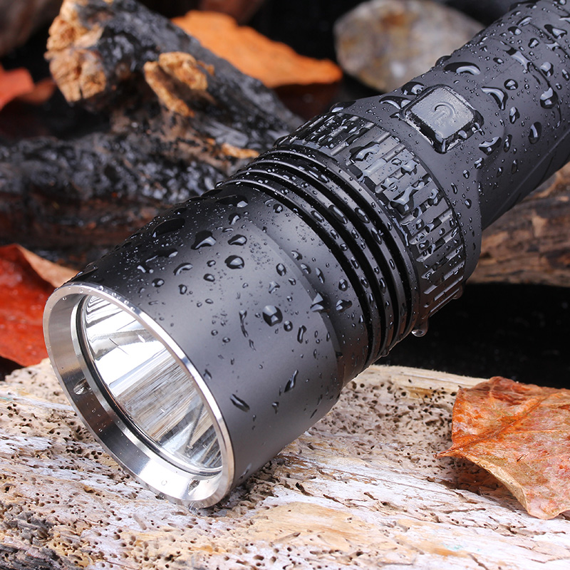 USB Multi-function CREE L2 Led Flashlight Lanterna Light Torch Power Bank Flash Light with Safety Hammer for Camping Hiking