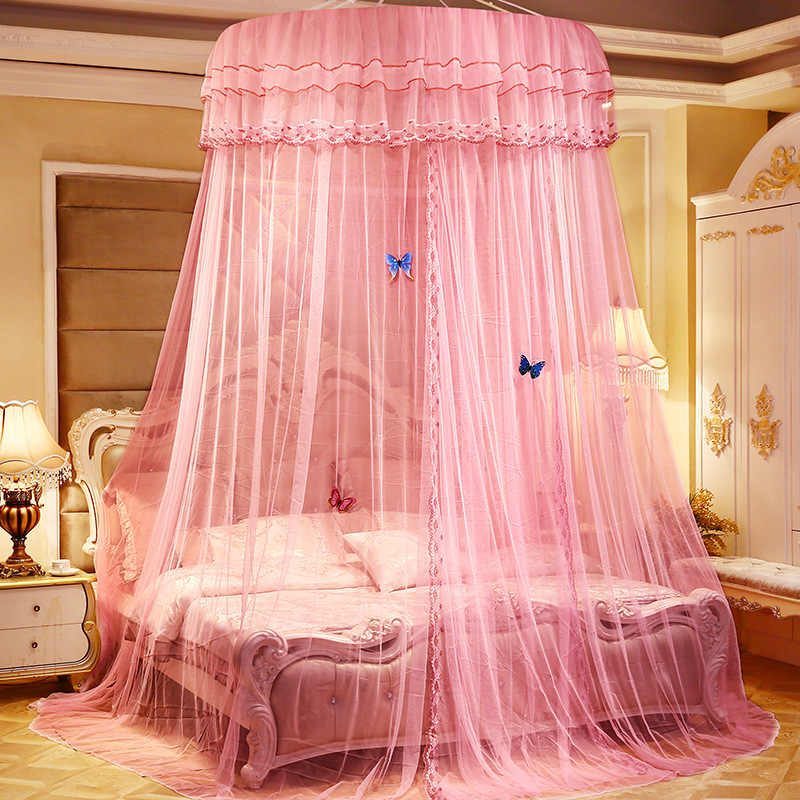 Romantic Lace Round Mosquito Net Adult Dome Tents Ceiling Hanging Canopy Decor Large Size for 1.2-2m bed