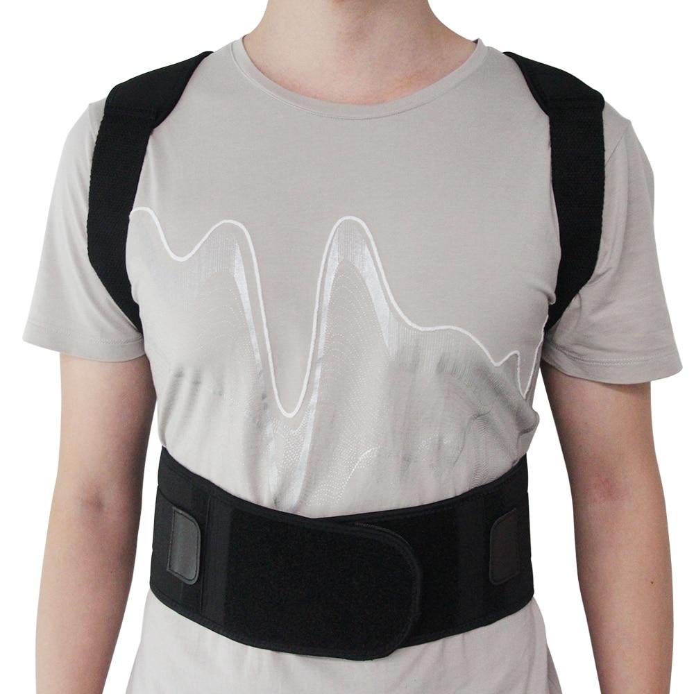 0aeddf035 Aptoco Adjustable Magnet Posture Corrector Male Corset Back Belt  Straightener Brace Shoulder Corrector De Postura Suporte Belt
