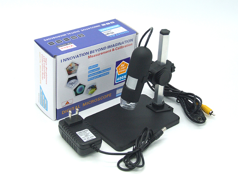 HD 2MP Zoom 1-50X/400X AV Handheld Endoscope Video Microscope 1 50 200x hd 2mp usb microscope take photo and video handheld endoscope