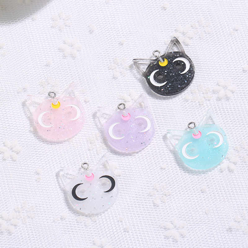 20 cái 24*28 mét sailor moon cat charms necklace pendant keychain charms cho DIY jewelry trang trí