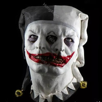Cursed and Demented Two Faced Jester Mask Two Headed Monsters Masks In bred and deformed Halloween Latex Horror