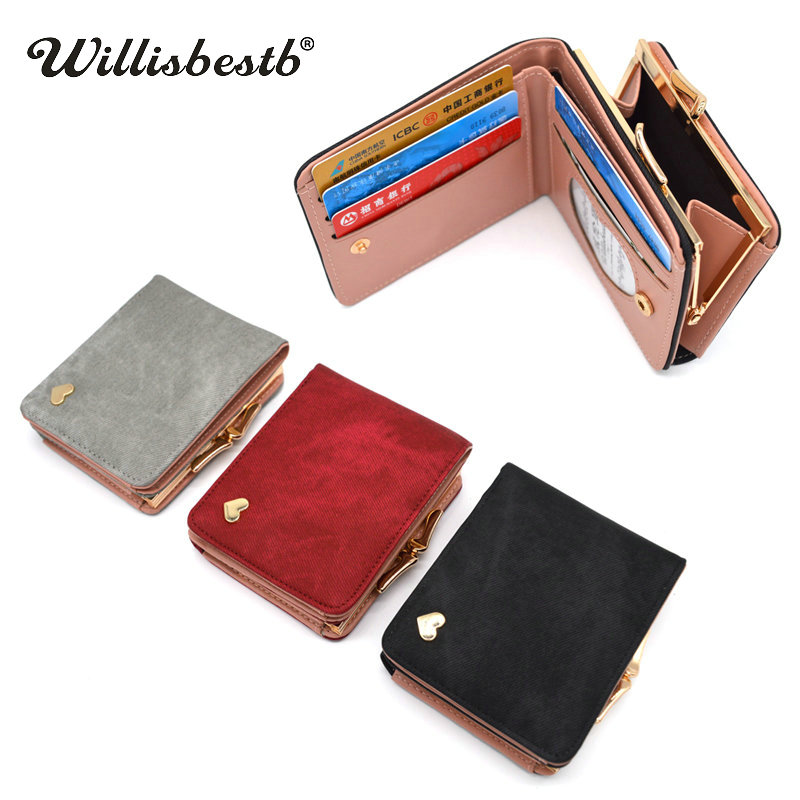New Woman Wallet Small Hasp Coin Purse For Luxury Brand Lady Purses Female Wallets Women Mini Leather Clutch Card Holder #2
