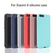 Xindiman Fundas for xiaomi6 case ultra thin silicone cover xiaomi 6 candy color soft TPU carcasa coque