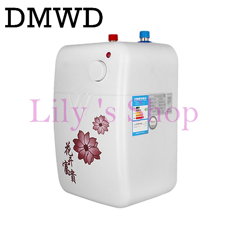 DMWD Tankless Water storage Heater Instant electric hot Water kitchen heaters Instantaneous shower Heating Faucet Tap 6L 1500W high quality 32l hot water storage type heating machine electric water heater for shower bathroom device eu us plug