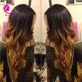 150 высокой плотности 1B / # 30 ломбер полный парики человеческих волос два тона с волосами младенца Glueless полные парики бразильский для женщин