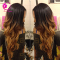 150 High Density 1B/#30 Ombre Full Lace Wigs Human Hair Two Tone With Baby Hair Glueless Full Lace Wigs Brazilian For  Women