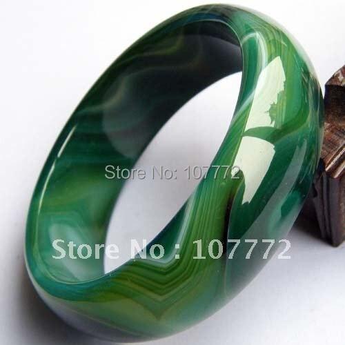 Wider thicker Green natural agate/jade bracelet   +FREE SHIPPMENT