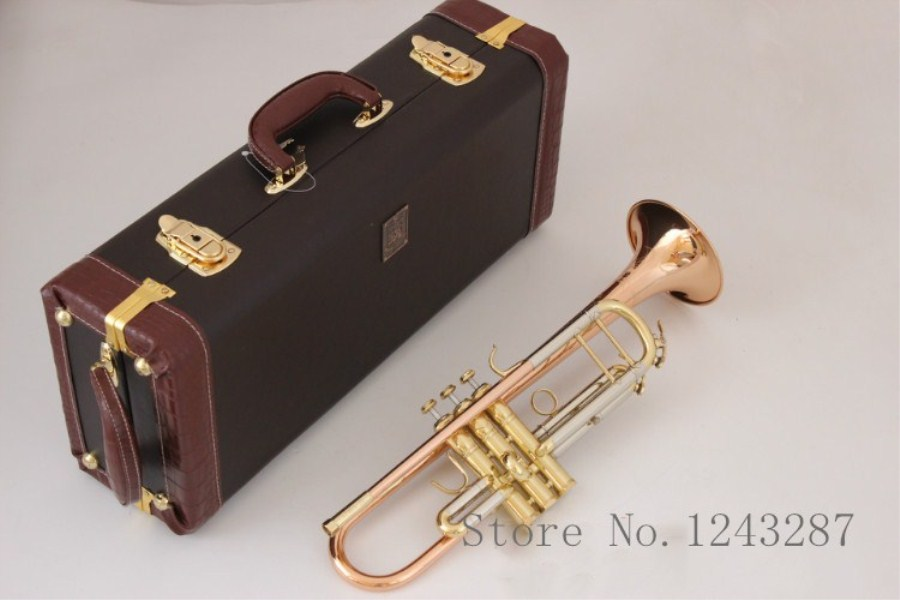 цена Trumpet LT180S-72 B flat professional trumpet bell Top musical instruments phosphorus Brass horn performance music free shipping