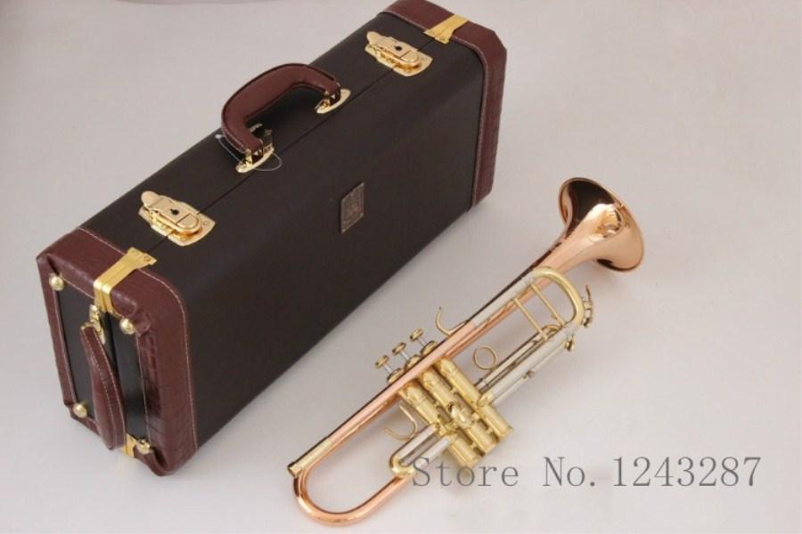 Trumpet LT180S 72 B flat professional trumpet bell Top musical instruments phosphorus Brass horn performance music free shipping